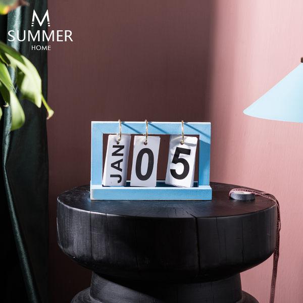 日曆 創意簡約木質INS翻頁日曆台曆桌面裝飾北歐小擺件書房擺設 多色