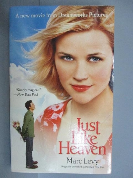 【書寶二手書T6/原文小說_LRT】Just Like Heaven_Marc Levy