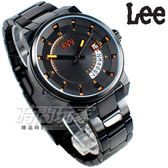 Lee 準確時刻錶 個性休閒腕錶 大日期顯示窗 男錶 IP黑電鍍不銹鋼 LES-M31DBDB-14