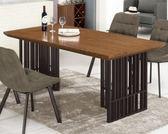 【新北大】✪ B425-1 伯特6尺胡桃餐桌(不含餐椅)-18購