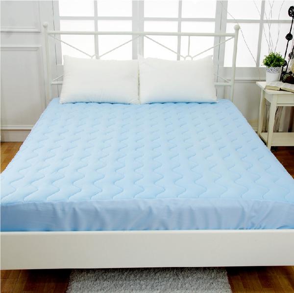 床包式保潔墊 奈米冰涼紗 - 雙人床包(單品) 一觸即涼、可機洗、炎夏必備、涼感舒適、MIT台灣製造