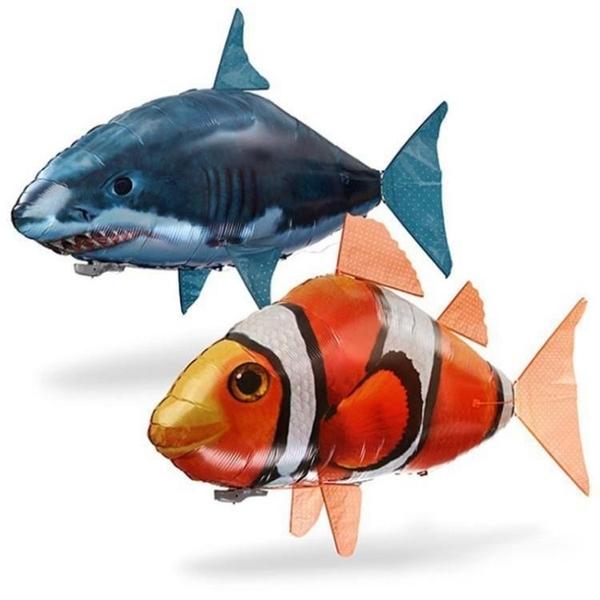 【現貨秒殺】遙控飛魚空中飛魚 遙控鯊魚充氦氣 會飛的魚 婚慶時尚創意活動玩具
