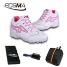 高爾夫女鞋 鞋子 透氣防水運動鞋 高幫鞋子 休閒球鞋 GSH025WPNK