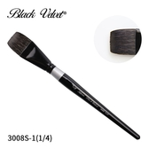 『ART小舖』SilverBrush美國黑天鵝絲絨Black Velvet 松鼠混合毛 平頭筆 3008S 1(1/4)號