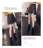SHINE KOREA 秋冬時尚不走光微彈力高腰皮質短裙