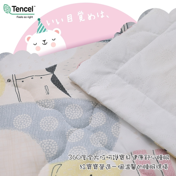 【BEST寢飾】天絲兒童三件組 熊熊戀曲 鋪棉睡墊+涼被+童枕 TENCEL 兒童園 睡袋 3M吸濕排汗技術