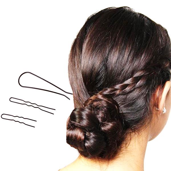 新娘頭造型快速盤髮叉 3入組 美髮工具 盤髮 盤髮叉