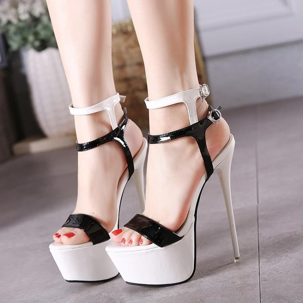 新上市19cm超高跟鞋超細跟性感夜店亮片單鞋女16cm/18cm/20cm/22
