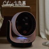 循環扇渦輪空氣對流扇家用定時台式電風扇遙控靜音日本電扇「Chic七色堇」igo