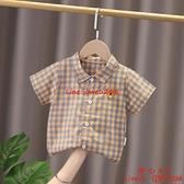 男童短袖襯衫薄款洋氣襯衣休閑卡通0-4歲可愛單件潮【齊心88】