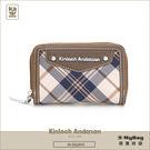 Kinloch Anderson 金安德森 皮夾 英式學院 咖啡 經典格紋卡夾 女用零錢包 KA151207  MyBag得意時袋