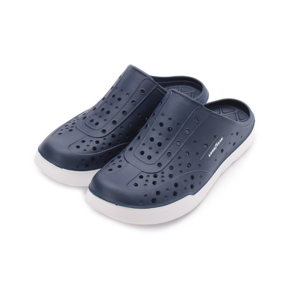 GOODYEAR 輕量晴雨包頭拖鞋 藏青 GAMS83606 男鞋 鞋全家福