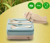 熱銷便當盒日式飯盒便當盒學生帶蓋韓國可愛2層分格微波爐長方形便攜餐盒 曼莎時尚