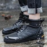 雨鞋 時尚雨鞋男潮低筒雨靴成人水鞋防滑工作膠鞋戶外防水大碼釣魚鞋 快速出貨
