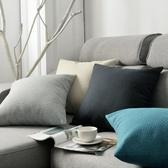 抱枕 簡約亞麻抱枕客廳沙發靠墊床頭靠枕椅子靠背辦公室腰枕抱枕套定制 LX美物居家