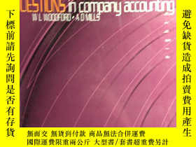 二手書博民逛書店QUESTIONS罕見in company accounting