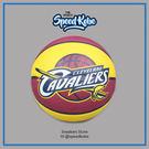 speedkobe☆斯伯丁籃球 SPALDING 2015 NBA 隊徽球 騎士隊 紅黃 室外球 # SPA83218