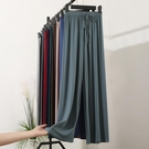 【快樂購】莫代爾棉寬褲女高腰冰絲垂感寬鬆直筒褲