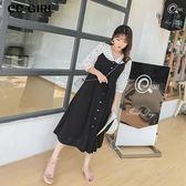中大尺碼 抽繩背心裙長洋裝~共兩色 - 適XL~4L《 67029L 》CC-GIRL  新品