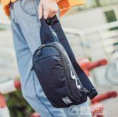 新款胸包男韓版學生單肩包小背包斜背包帆布包包休閒斜跨腰包   電購3C