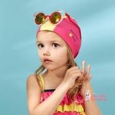 泳帽 男女童游泳帽兒童趣味印花泳帽簡約可愛沙灘泳池帽 4色