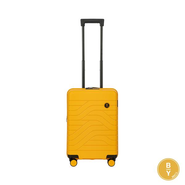 BRIC'S B|Y Ulisse 義大利品牌 19.5吋拉鍊擴充拉桿箱 PP材質 登機箱 (黃) B1Y084