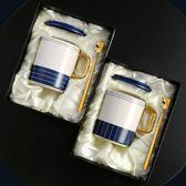 馬克杯   簡約早餐牛奶馬克杯帶蓋勺辦公室水杯創意情侶咖啡杯 coco衣巷