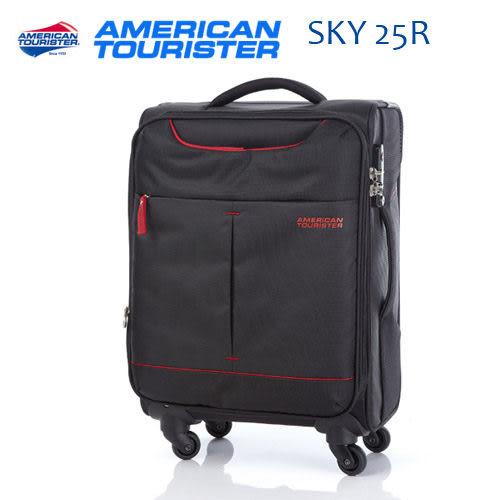 [佑昇]Samsonite美國旅行者AMERICAN TOURISTERS (新款) SKY 25R 20吋黑紅(可擴充)登機箱 (活動優惠中!)