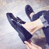 休閒皮鞋男春季英倫日常正韓潮流圓頭青年社會小伙懶人鞋潮男鞋子