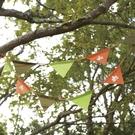 【LOGOS 日本 印地安3色旗誌2PCS】71809509/三角旗幟/三角吊旗/串旗/露營/帳篷/裝飾