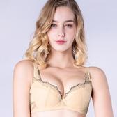思薇爾-桐花漫舞系列B-F罩蕾絲包覆內衣(金赭色)