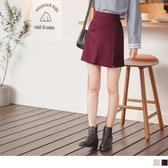 《CA2114》小性感假兩件側開衩高腰鬆緊短褲裙 OrangeBear