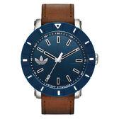 adidas 潮流爭霸休閒時尚腕錶-藍x咖啡