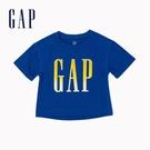 Gap女幼童 Logo純棉圓領印花短袖T恤 577390-藍色