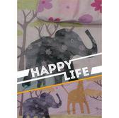 碧多妮嬰兒商品-AB面叢林動物園-60支精梳棉嬰兒純蠶絲被