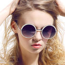 Posma SGC-069-SKY 復古潮流★女用戶外圓形大框太陽眼鏡