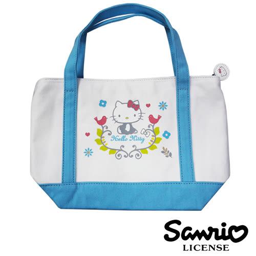 【三麗鷗正版】Hello Kitty 凱蒂貓 北歐風 手提袋 便當袋 帆布袋 三麗鷗 Sanrio - 005145