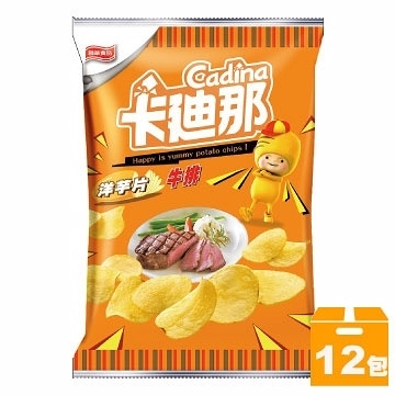 卡迪那牛排洋芋片45g(12入)【合迷雅好物超級商城】