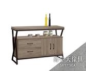 {{ 海中天休閒傢俱廣場 }} G-33 摩登時尚 餐櫃系列  810-5  奧蘿拉古香色4尺餐櫃
