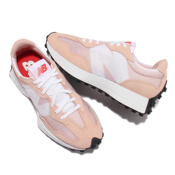 New Balance 復古休閒鞋 327 女鞋 草莓奶昔 粉 白 膠底 NB 紐巴倫【ACS】 WS327HC-B