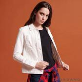 【GIORDANO】女裝白色仿舊多口袋牛仔外套-16 皎雪