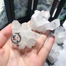 天然小 白水晶簇