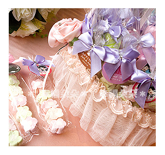幸福朵朵*【我的專屬吊牌棉花糖(5顆小花)x50份(送公版吊牌)+小提籃x1個】送客糖果