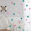 水晶珠簾隔斷客廳玄關門簾藤球珠鍊屏風過道免打孔裝飾簾掛線簾子
