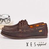 XES 女鞋 經典帆船鞋 英倫經典水波紋底帆船鞋-女(粗曠棕)