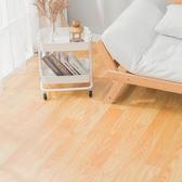 樂嫚妮 0.6坪仿樁木紋可裁切隔音捲材地板革-100X200cm樁木