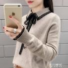 毛衣-秋裝內搭長袖針織衫打底很仙的毛衣韓版寬鬆洋氣上衣 東川崎町