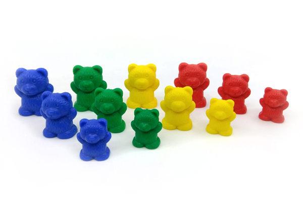 【台灣製USL遊思樂】砝碼熊 / 新砝碼熊(4.8.12g,4色,48pcs)+收納盒