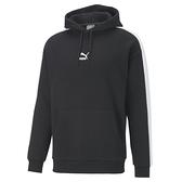 PUMA Classics 男款黑色寬版T7長厚連帽T恤 -NO.53027201