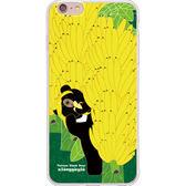 設計師版權【台灣黑熊 熊蓋芽-香蕉樂園】系列:TPU手機保護殼(iPhone、ASUS、LG、小米)